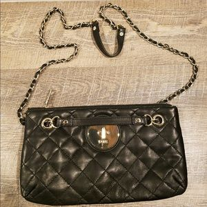 DKNY Quilted Nappa Black Leather 2 way Bag